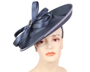 Women's Satin Church Derby Hats in India Blue