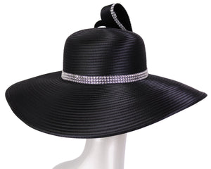 Women's Satin Formal Dress Church Derby Hats - HL113
