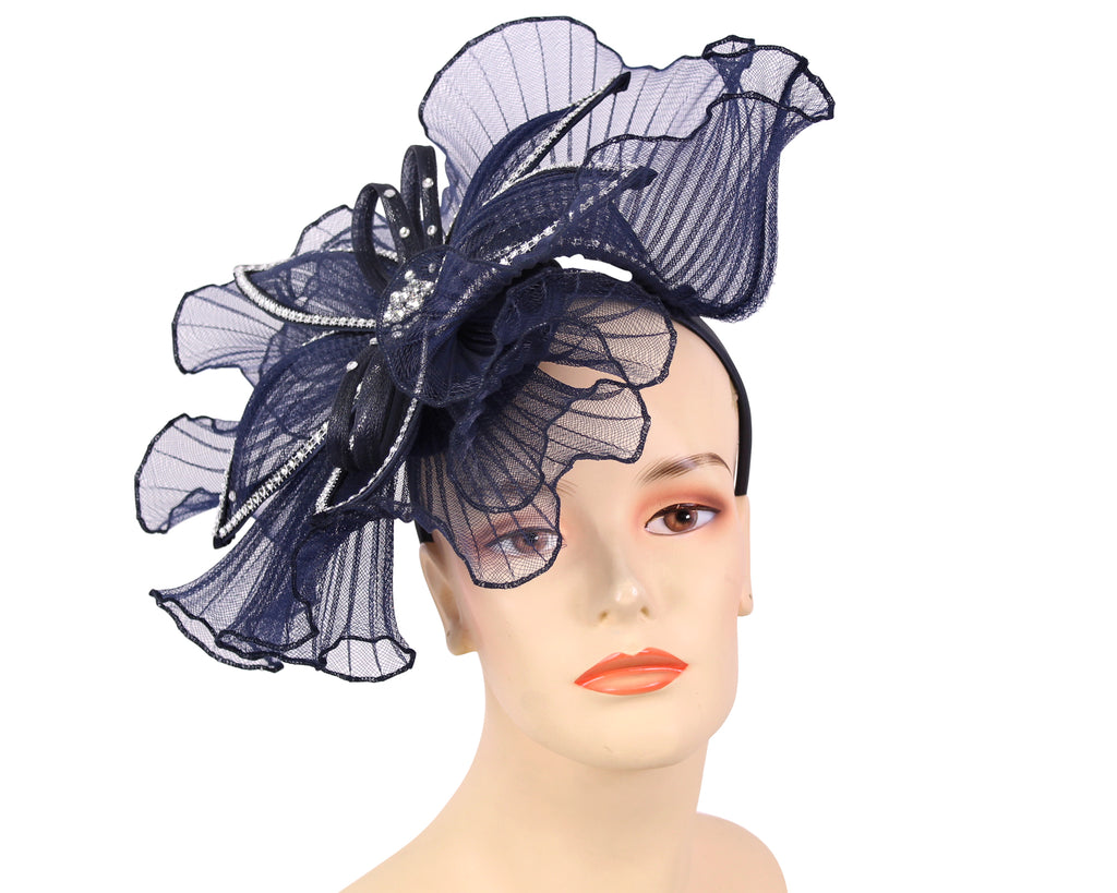 Women's Church Derby Fascinator Hats in Navy - HL126