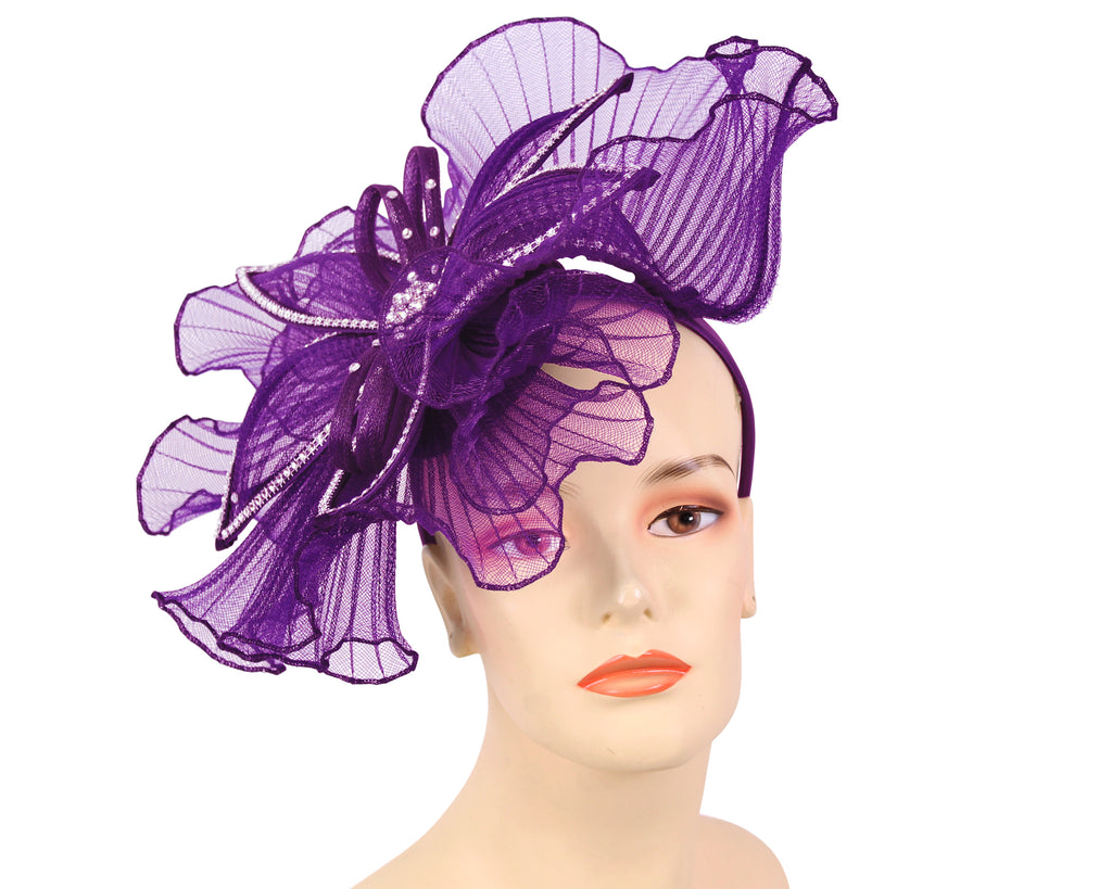 Women's Church Derby Fascinator Hats in Purple - HL126