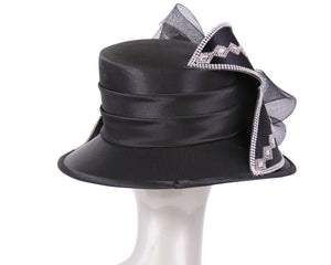 Women's Satin Church Derby Hats #HL127