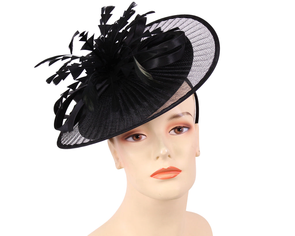 Women's Church Derby Fascinator Hats in Black - HL128