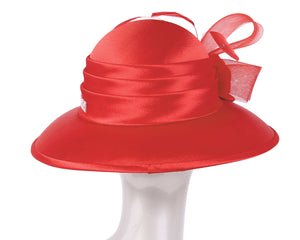 NEW- Women's Satin Church Derby Hats - HL131