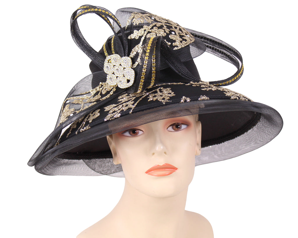 NEW - Women's Satin Formal Church Derby Hats- HL138
