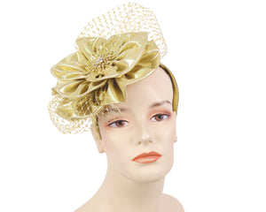 NEW-Women's Metallic Church Fascinator Hats - HL143