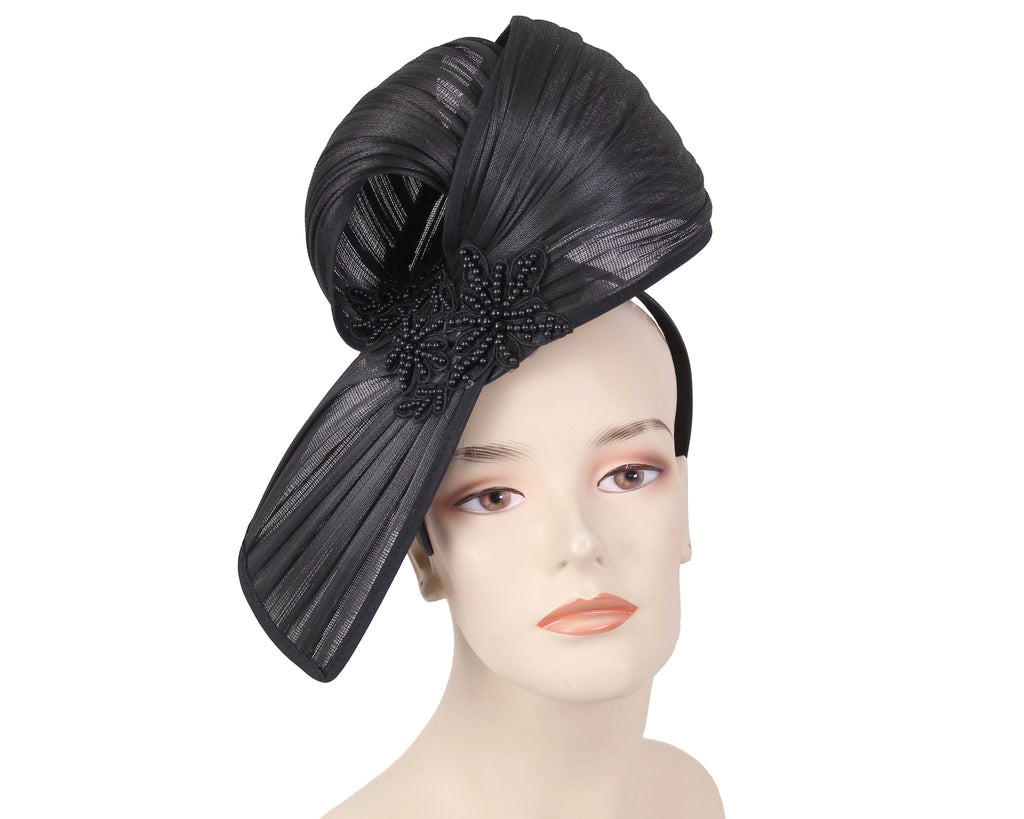 Women's Satin Church Derby Fascinator Hats in black