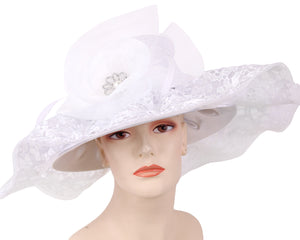 NEW - Women's Satin Dress Church Derby Hats - HL157