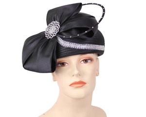 NEW-Women's Satin Pill-box Dress Church Hats - HL161