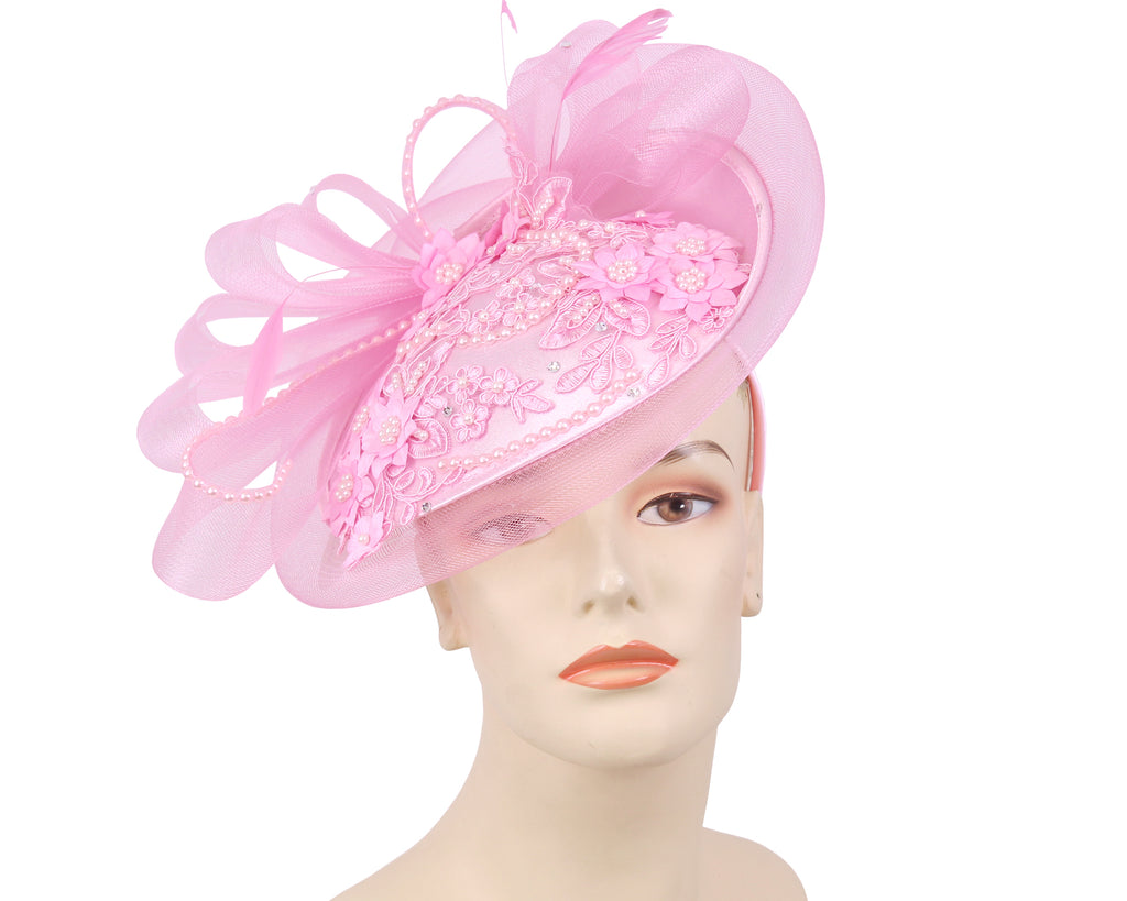 NEW-Women's Satin Church Fascinator Hats - HL162