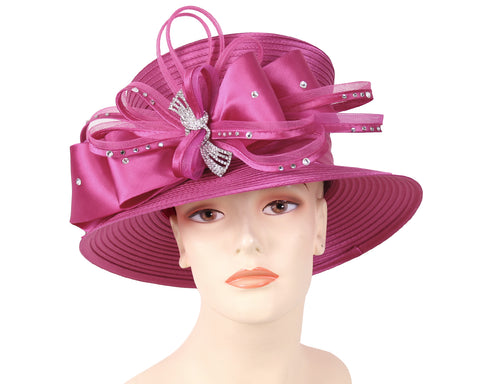 NEW - Women's Satin Dress Church Derby Hats - HL156