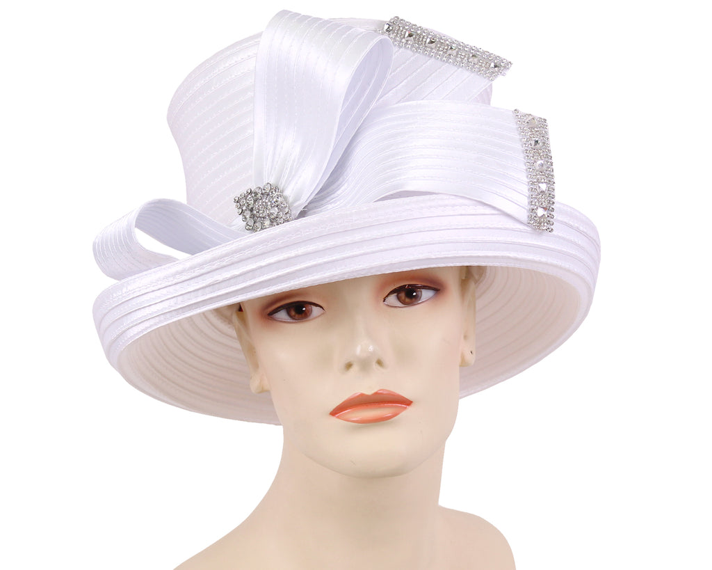 NEW - Women's Satin Church Derby Hats - HL172