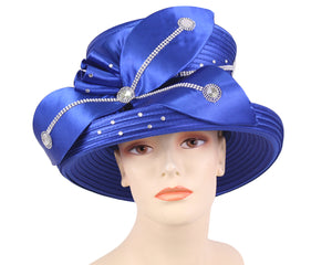 NEW - Women's Satin Church Derby Hats - HL173