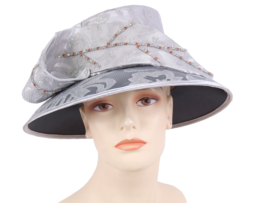 NEW- Women's Satin Church Derby Hats - HL174