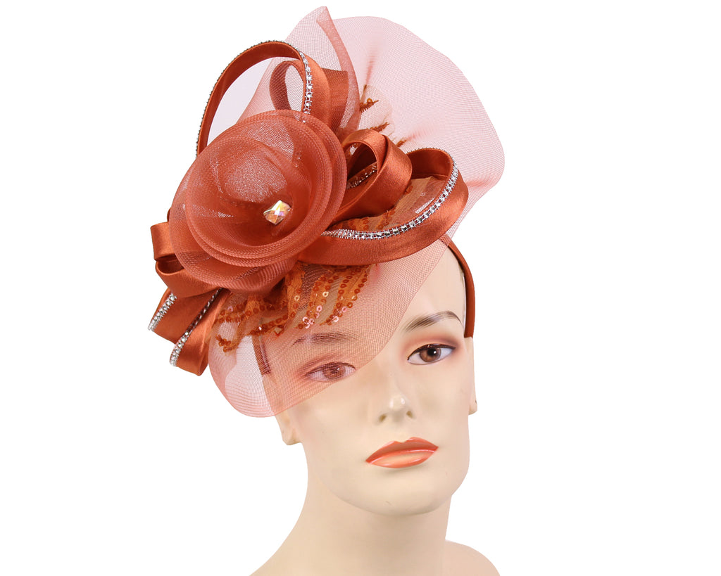 NEW - Women's Satin Church Fascinator Hats - HL181
