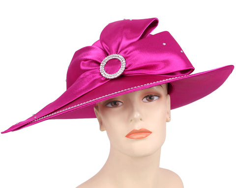 Women's Satin Formal Dress Church Derby Hats - HL81