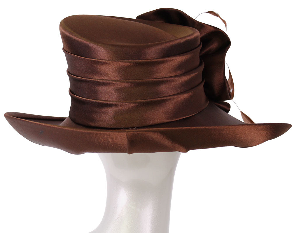 Women's Satin Formal Dress Church Derby Hats - HL78