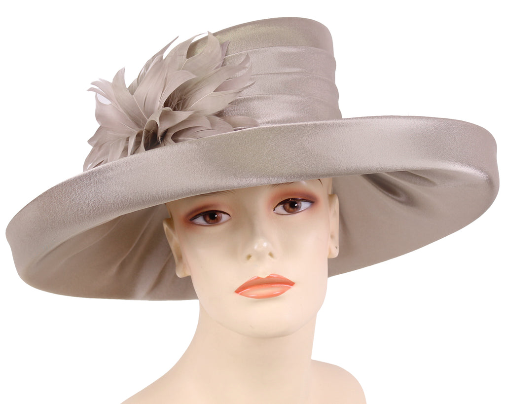 NEW - Women's Satin Formal Dress Church Derby Hats - HL81