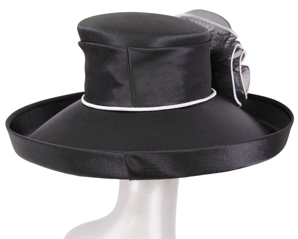Women's Satin Formal Dress Church Derby Hats - HL84