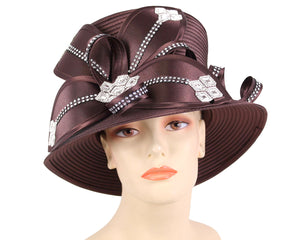 Women's Satin Ribbon Church Derby Hats #HL90