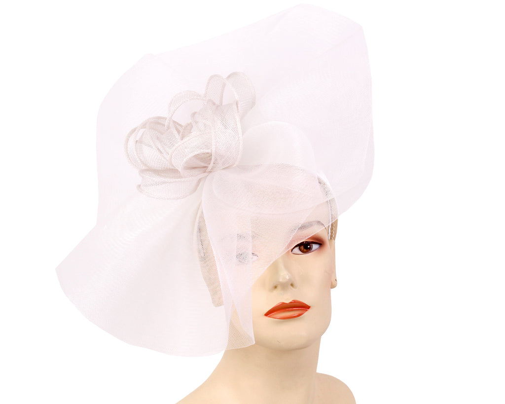 Women's Fascinator Church Derby Hats in White