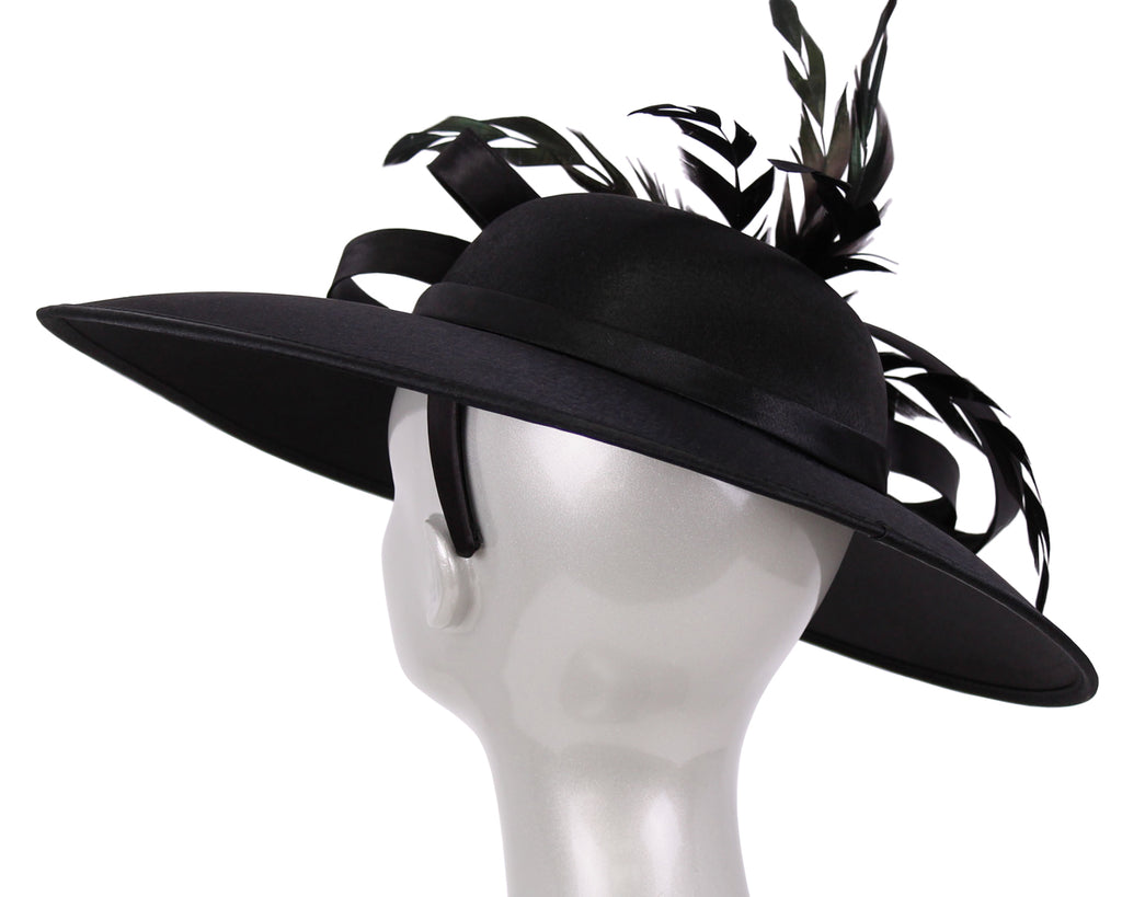 Women's Satin Formal Dress Church Derby Hats - HL97