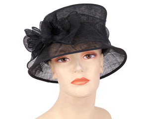 Women's Sinamay Church Derby Hats in Black