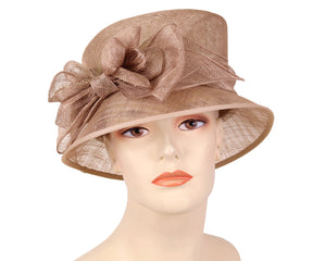 Women's Sinamay Church Derby Hats in Brown