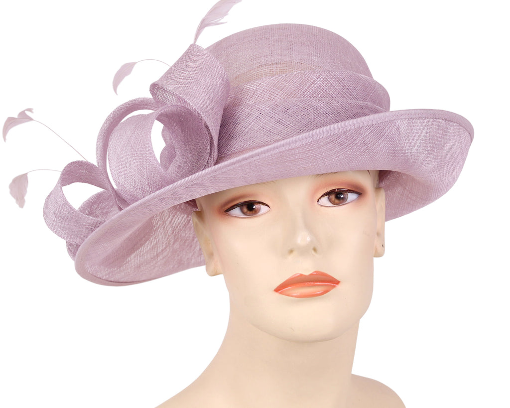 Women's Sinamay Derby Church Hats in Lilac or Purple