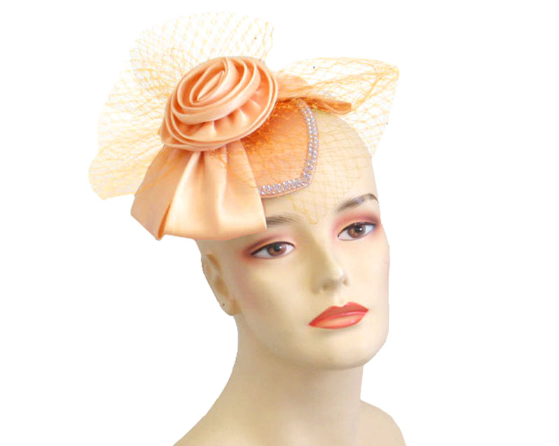 Women's Fascinator Hats in Peach