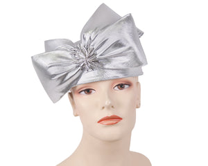 Women's Metallic Pill-box Church Hats - K030