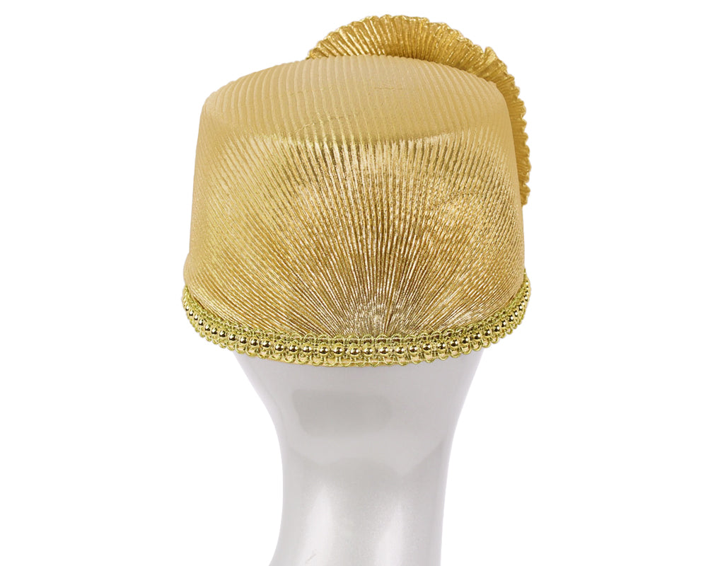 Women's Metallic Pill-box Church Hats - K036