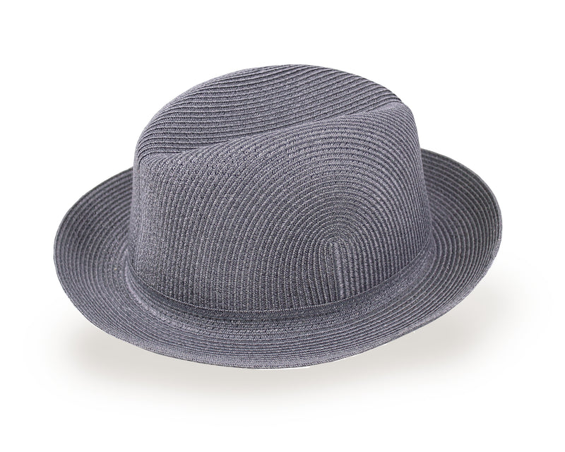 Straw Fedora Hat for Men and Women - Dark Gray (SY3G/ M, L)