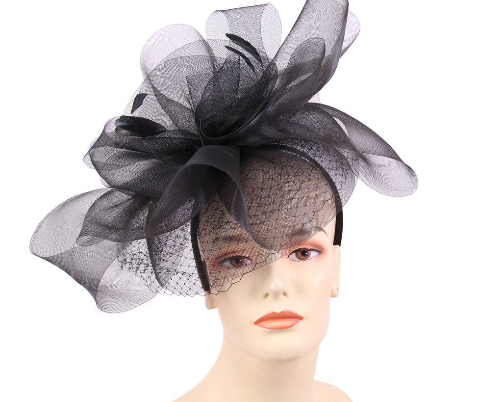 Women's Church Derby Fascinator Hats, Black - T703