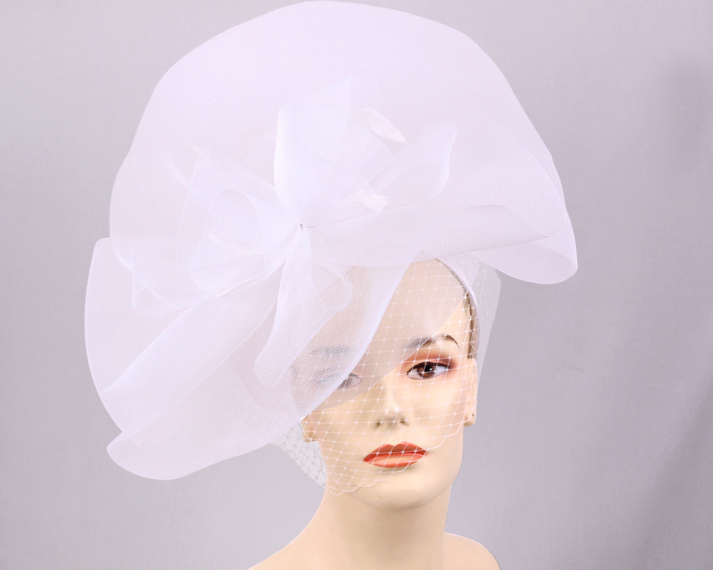 Women's Church Derby Fascinator Hats, White - T703