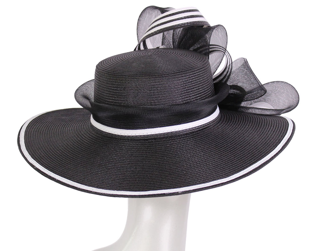 Women's Straw Mesh Ribbon Church Hats Derby Hats - #1520