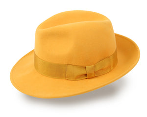 Wool Fedora Hat for Men and Women - Gold Yellow (HKY2)