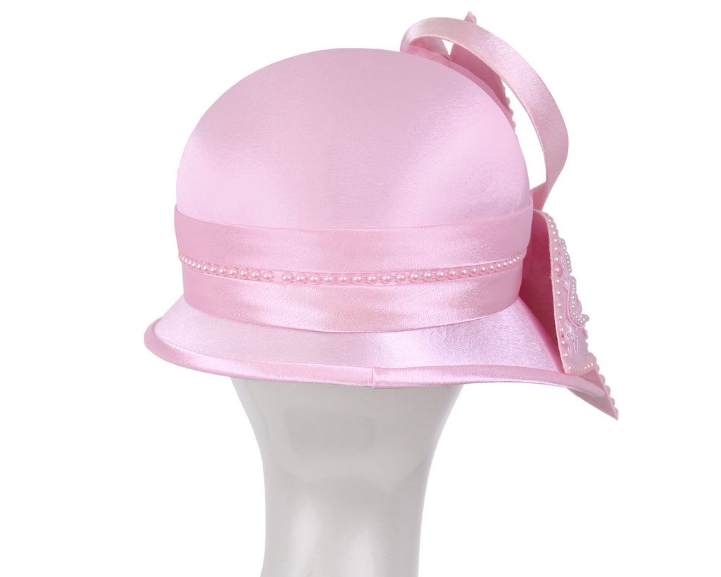 NEW - Women's Satin Church Derby Hats - HL151