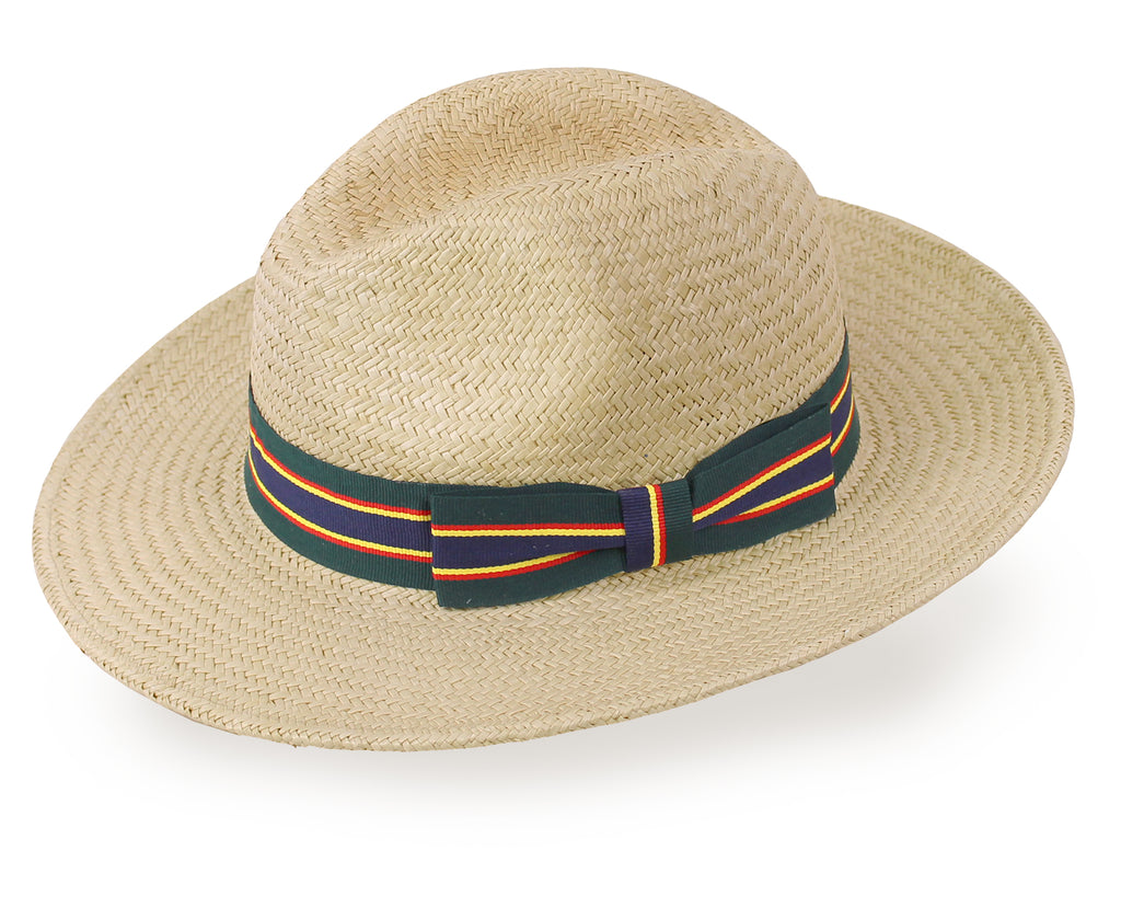 Natural Straw Sting Palm Fedora Hat for Men and Women - Light Natural - Free Shipping