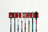 "(LIMITED EDITION - OLYMPIC SERIES)  Powder Coated Aluminum 24"" Hockey Stick Rack"