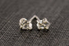 Herkimer diamond stud earrings -  - 7
