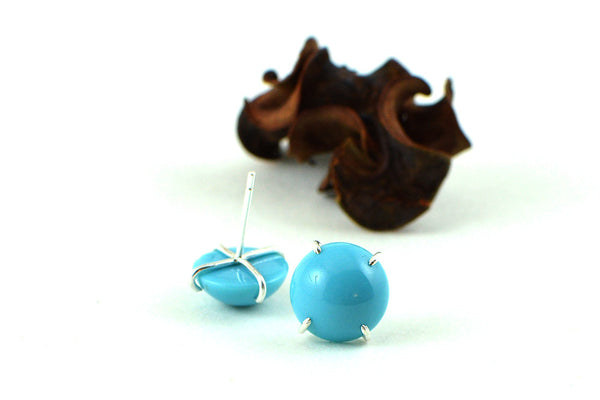 Turquoise stud earrings -  - 2