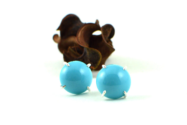 Turquoise stud earrings -  - 1