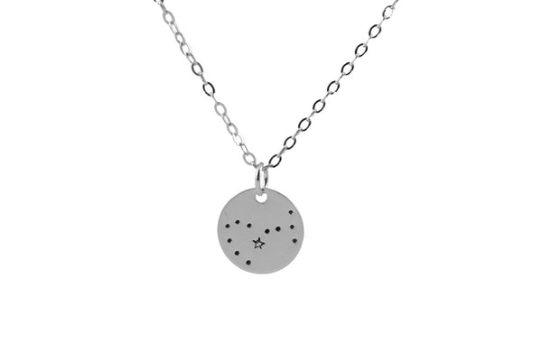 Silver constellation necklace