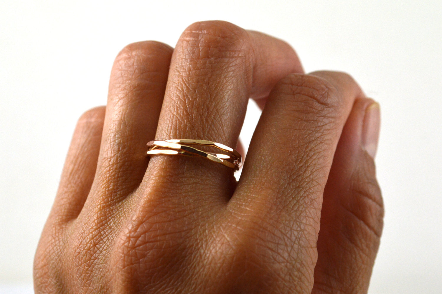 russian wedding ring in 14k gold filled - Russian Wedding Ring