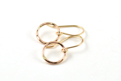 Gold circle earrings -  - 1