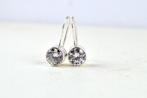 Diamond drop earrings -  - 1