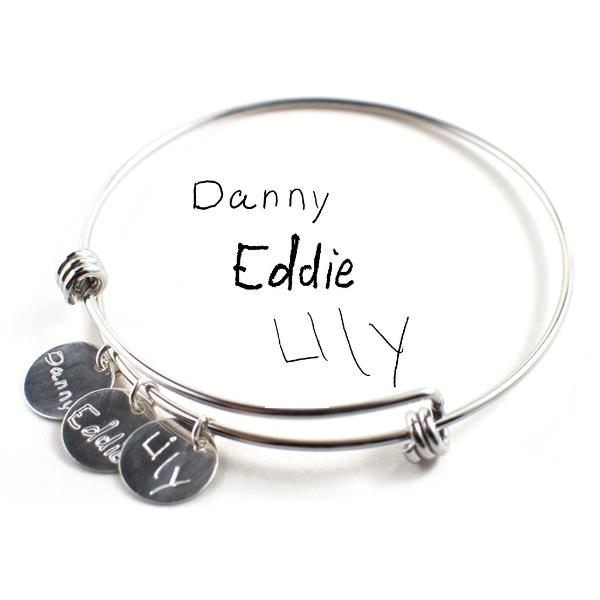 Kids handwriting bracelet