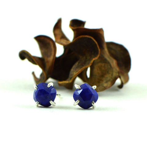 Blue lapis stud earrings