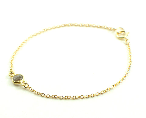 Gold smokey quartz bracelet