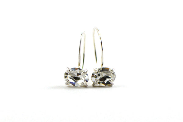 Crystal drop huggie earrings